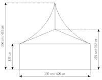 3m Pagoda Party Tent Tech Specs Drawing 2