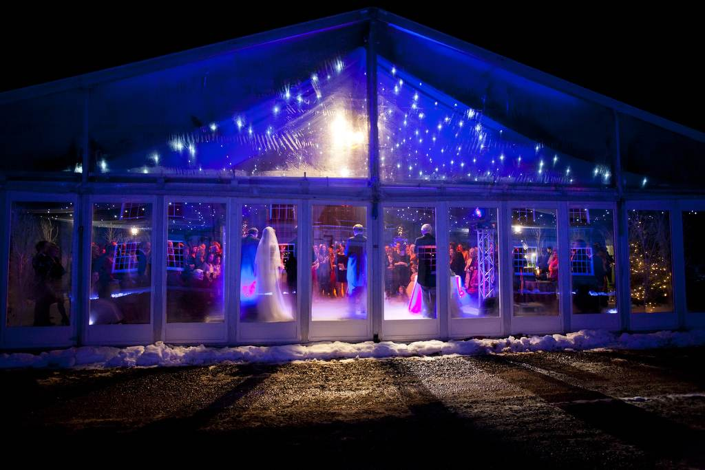 Wedding Hire - Glass Doors Marquee