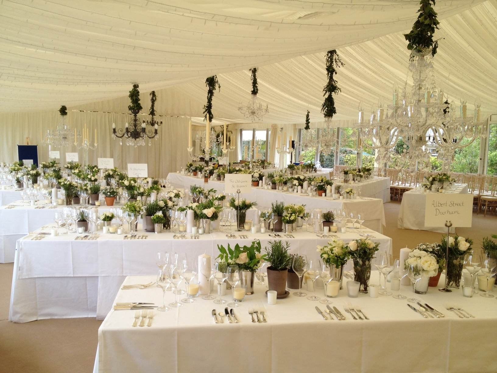 Wedding Hire - White Table cloths