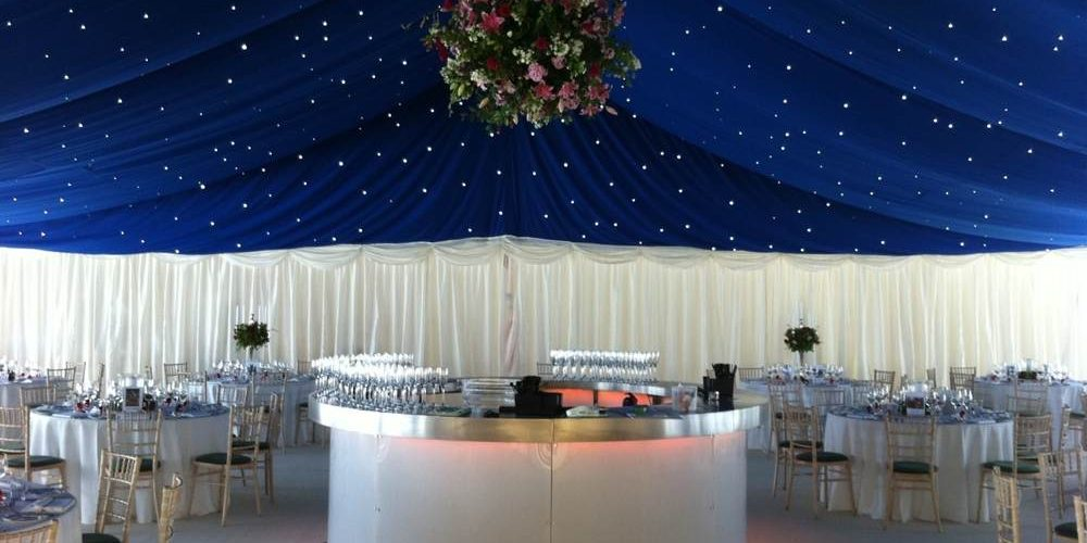Accessories - 3m LED Circular Bar with Blue Starcloth roof