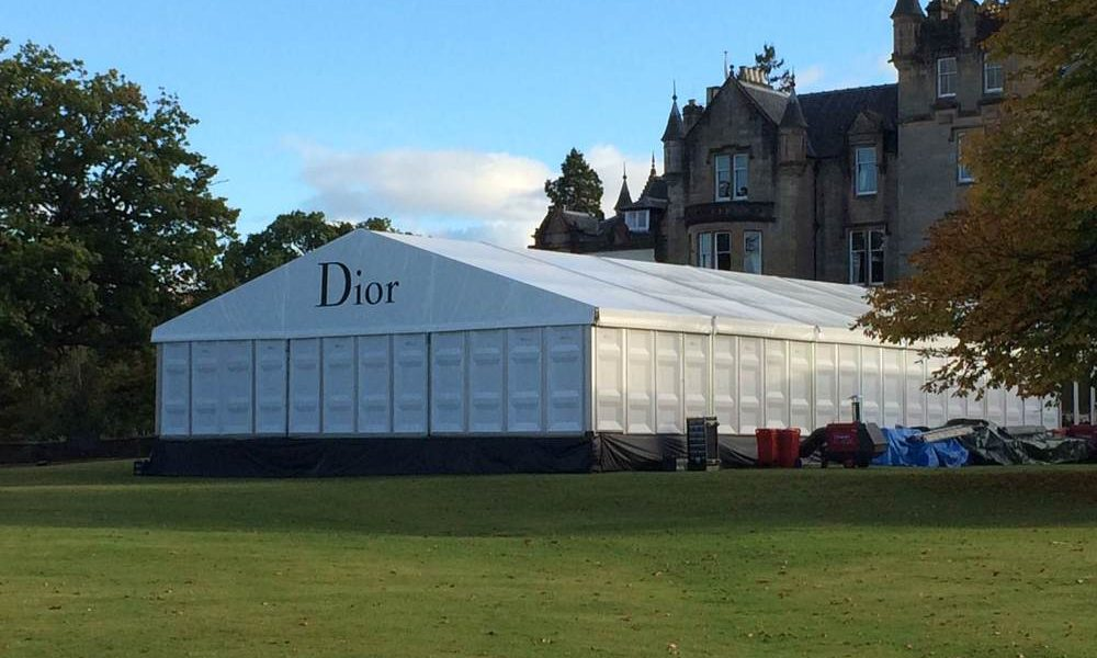 Branding - Raised Structure for Conference with printed gable