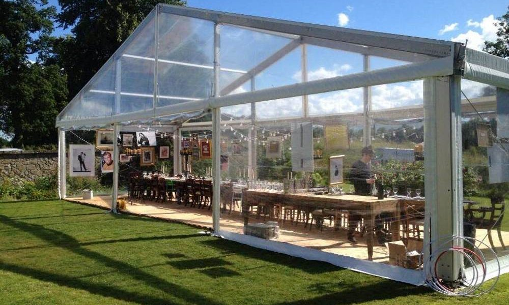 Clear Roof - Clear Pavilion for Birthday Celebration