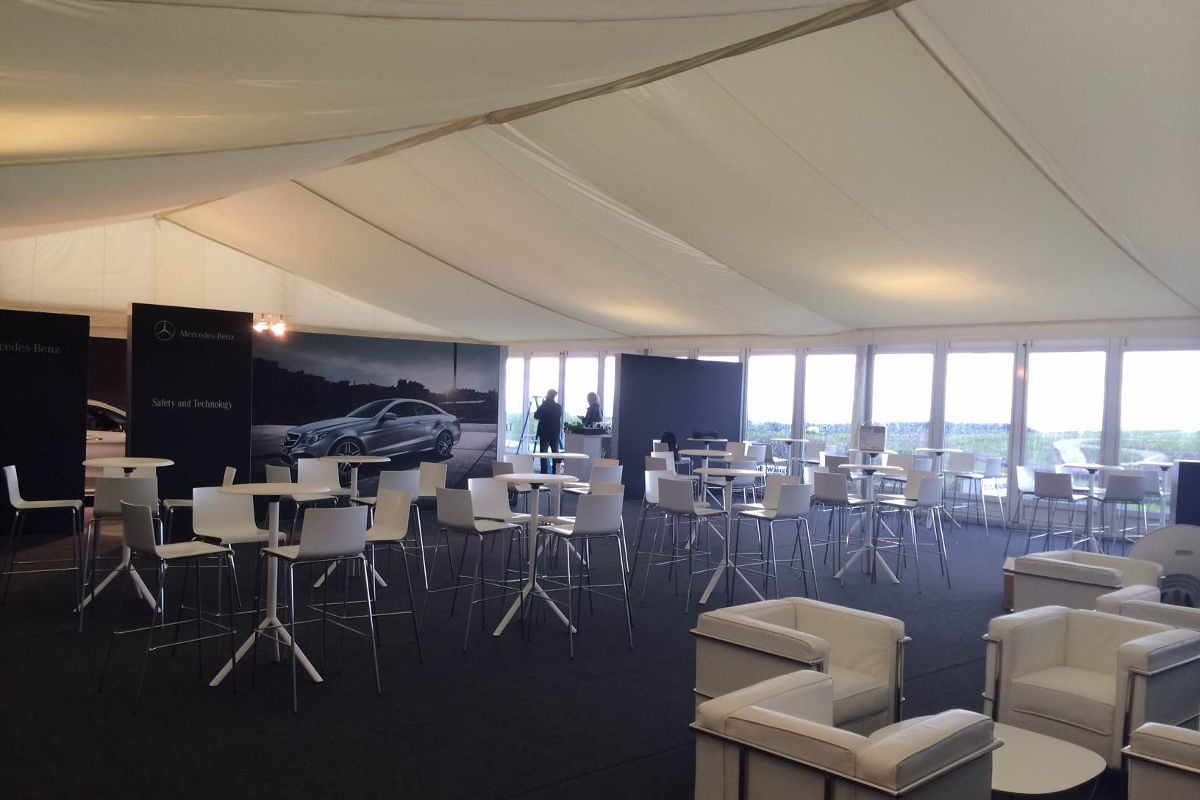 Corporate Hire - Bespoke furniture for performance car day