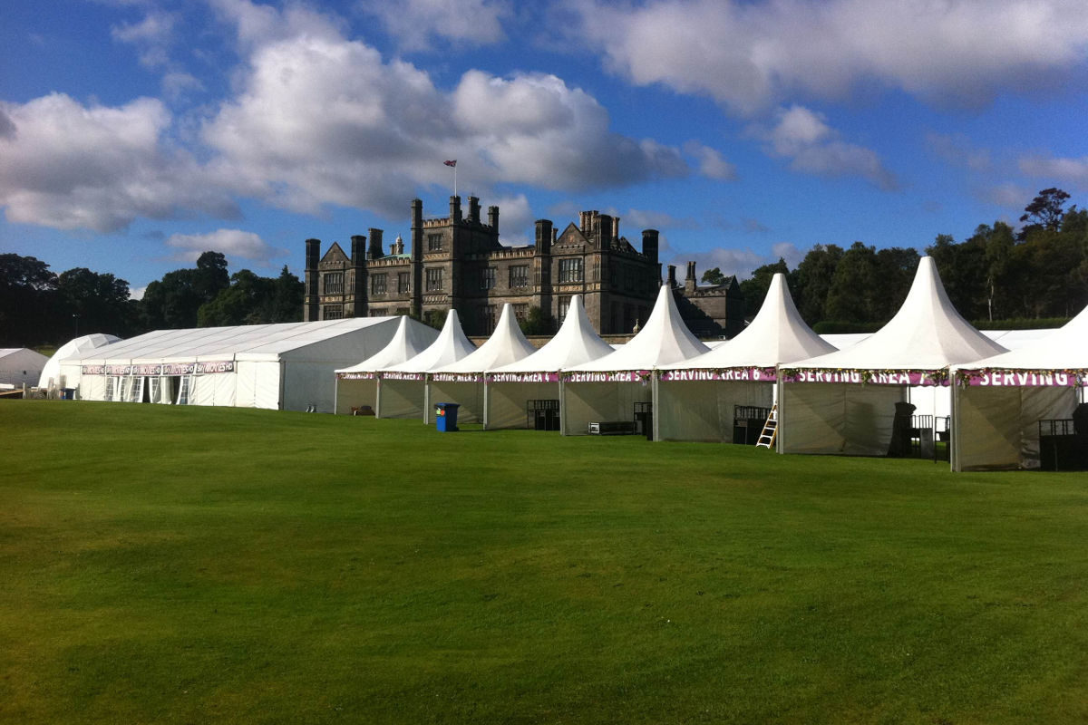 Corporate Hire - Food and dining tent