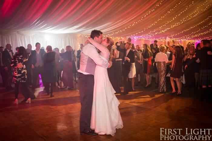 Dancefloor - First Dance for couple on parquet dancefloor