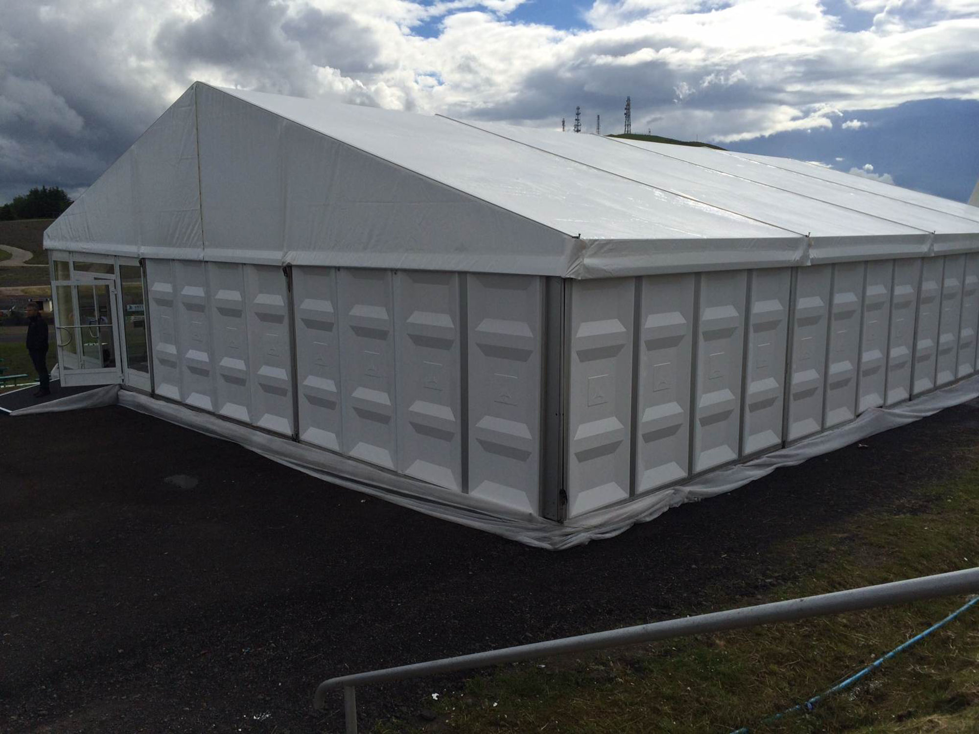 Industrial Hire - ABS Hard Sided Structure on a 3m eave