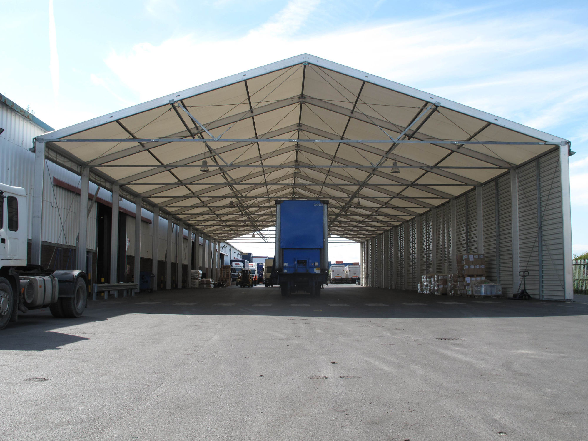 Industrial Hire - Temporary Lorry Garage