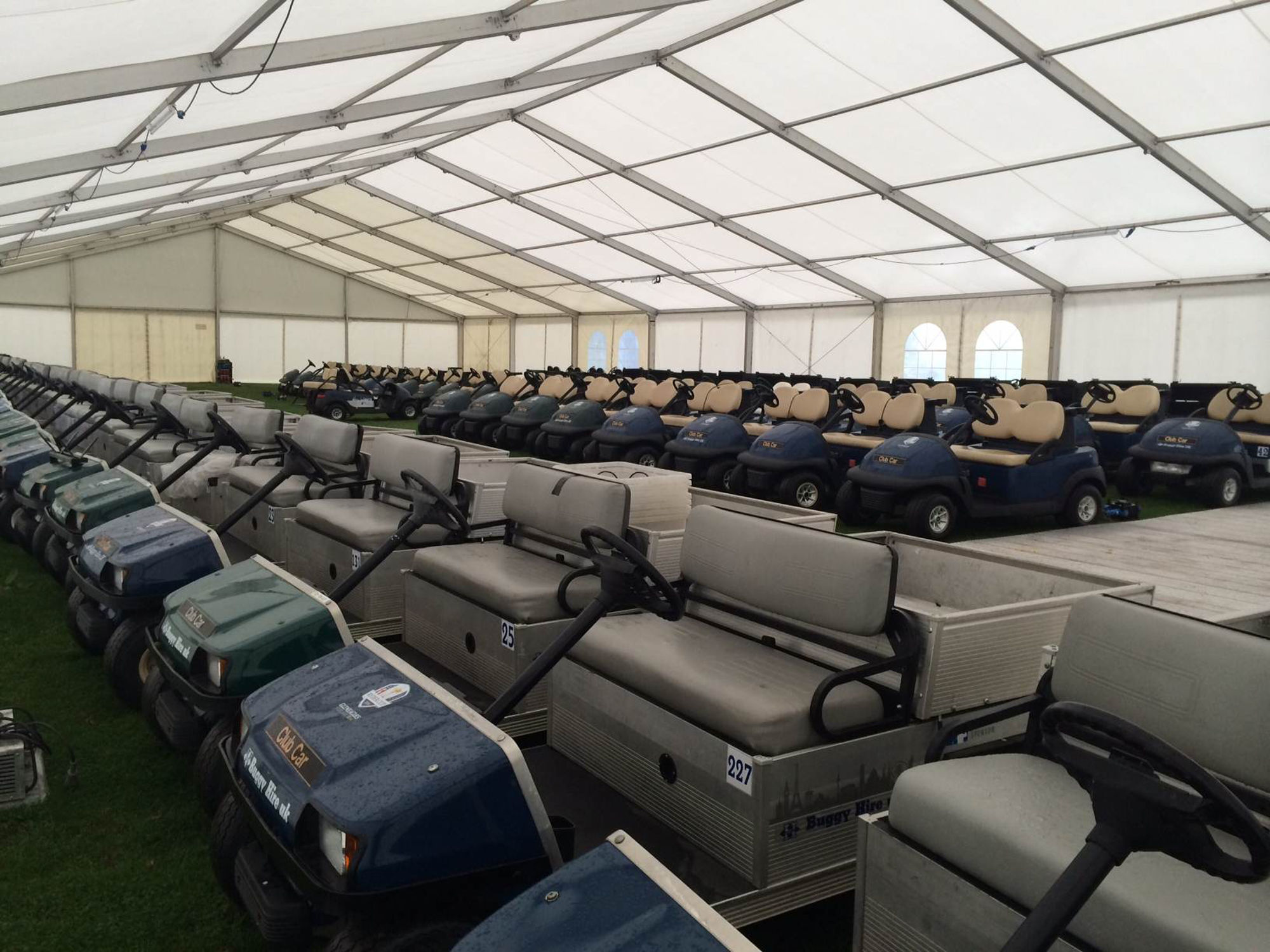 Industrial Hire - Temporary Warehouse for Golf Buggys