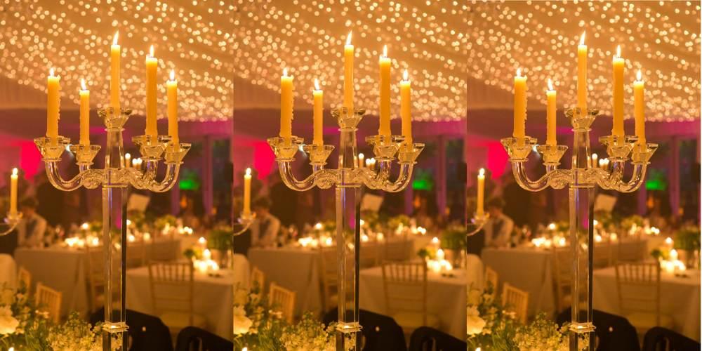Lighting - 5-arm glass candelabra