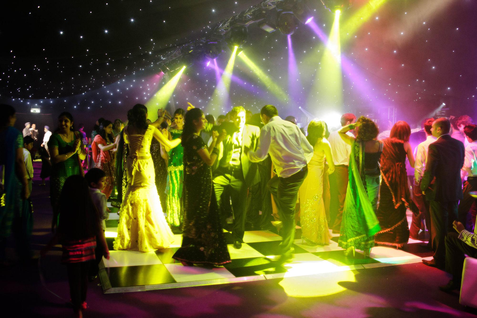 Private Hire - Black & White Dancefloor in Nightclub