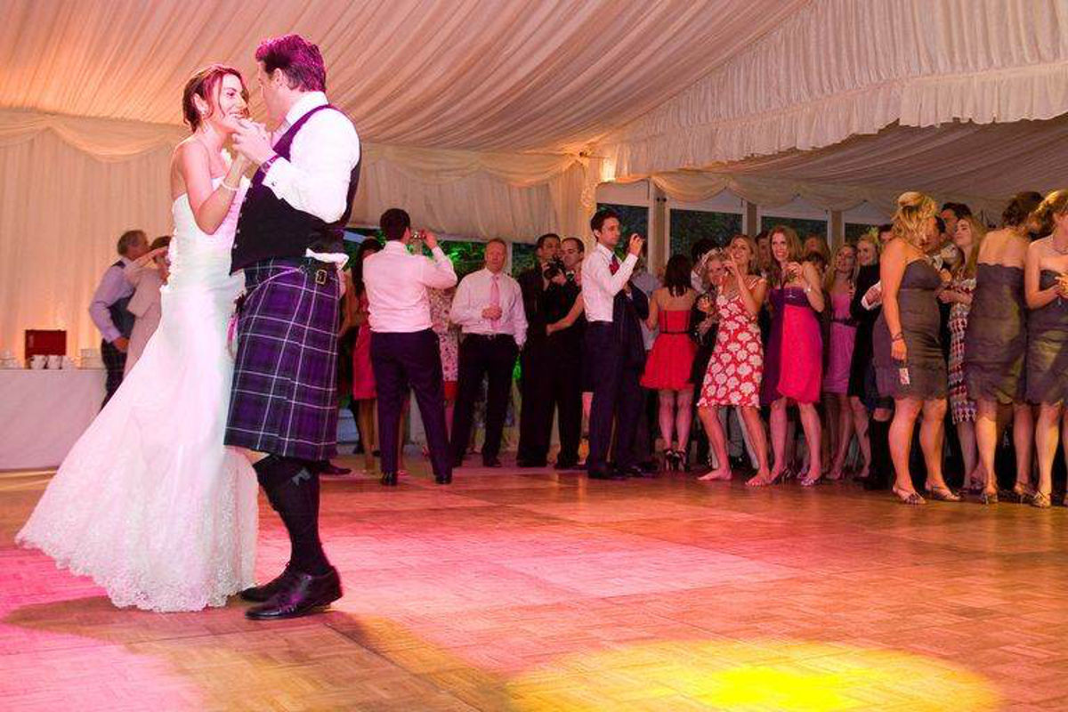 Wedding Hire - Bride and Groom - parquet dancefloor