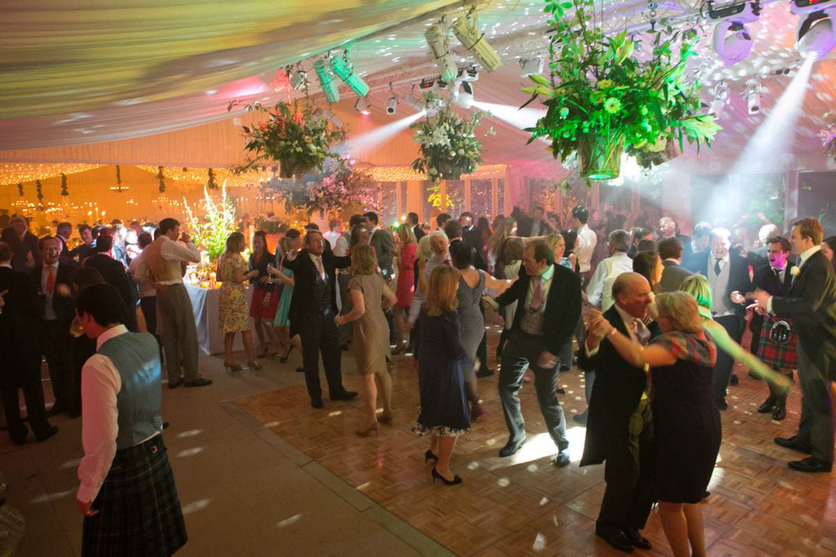 Wedding Hire - Parquet Dancefloor with lighting effects