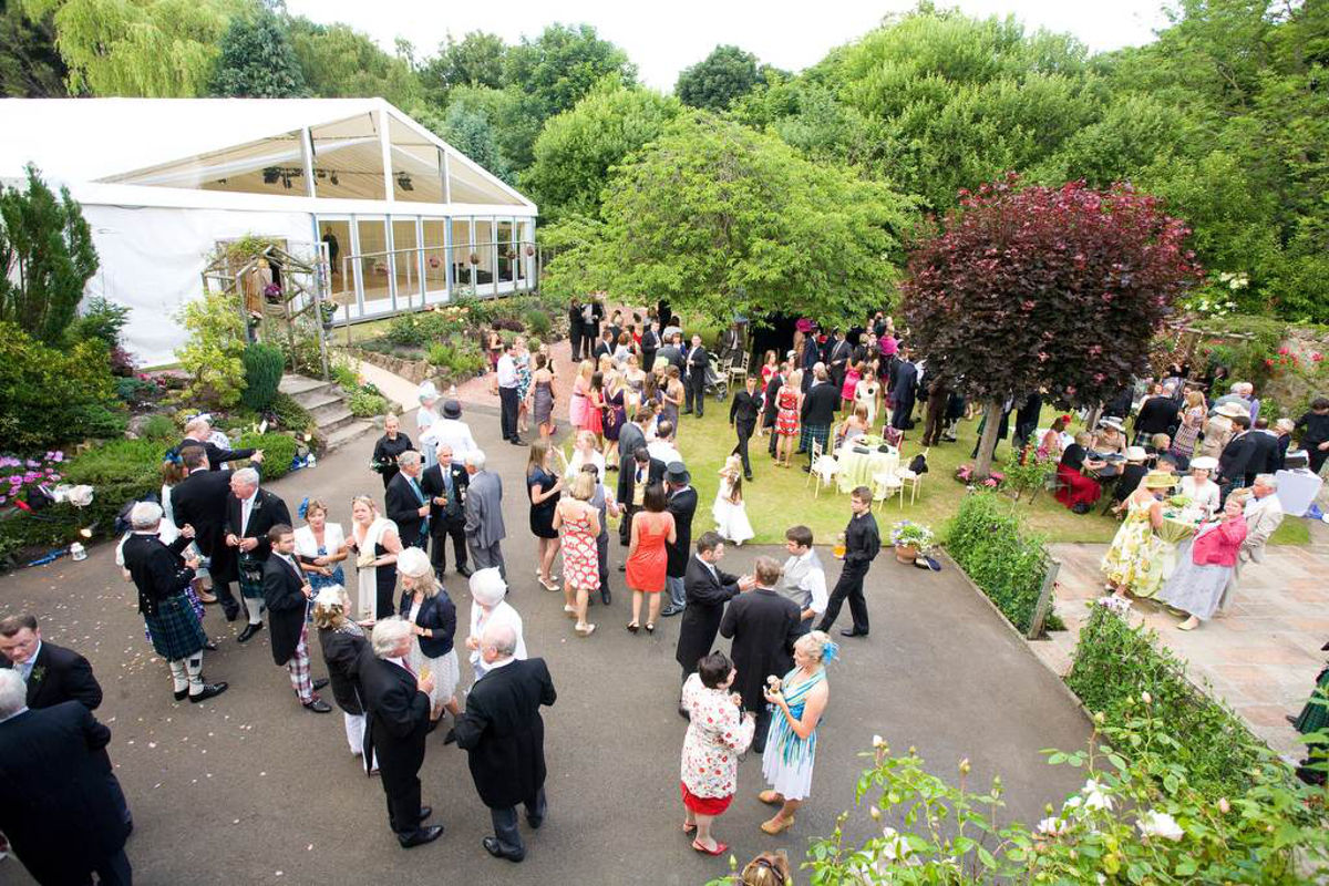 Wedding Hire - Reception outside Marquee